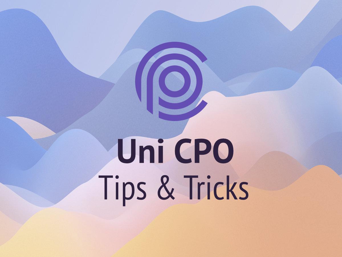 Three Lesser Known Tips & Tricks For Uni CPO